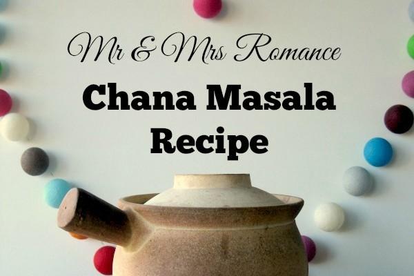 Mr & Mrs Romance - curry series - chana masala title