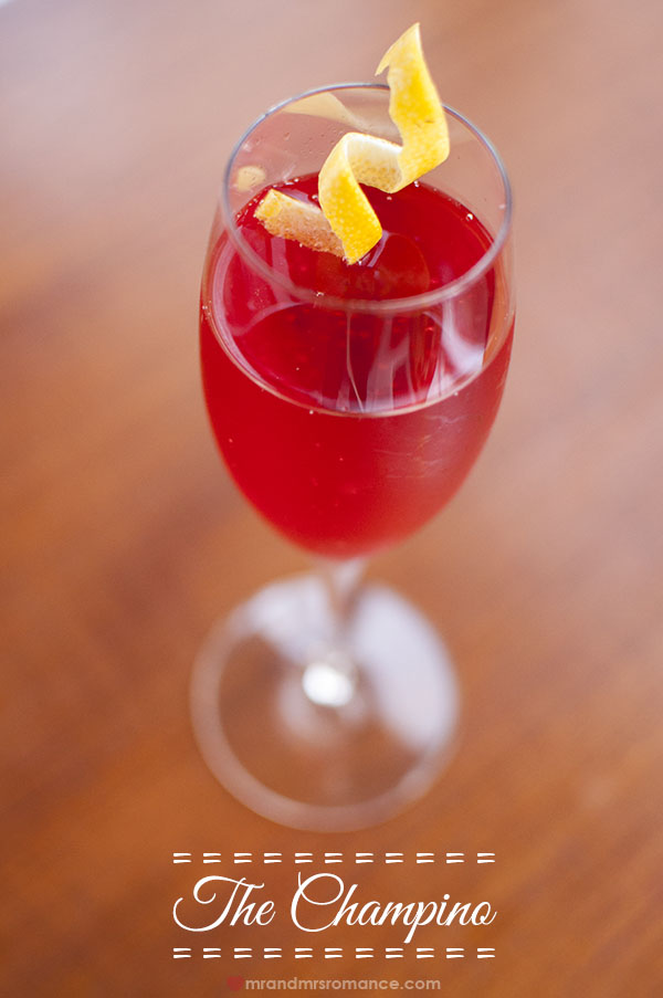 The Champino cocktail recipe by @mrandmrsroomance