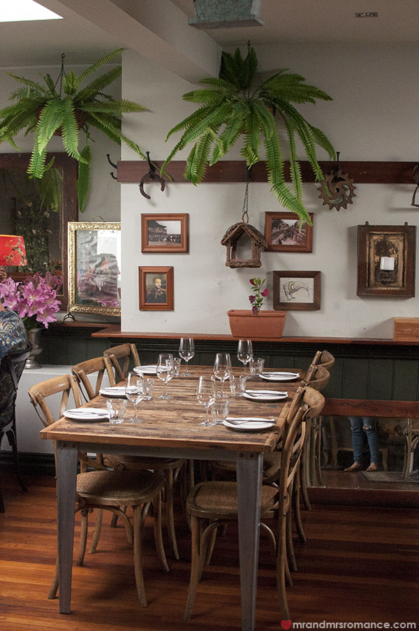 Mr and Mrs Romance - The Cottage Balmain review decor