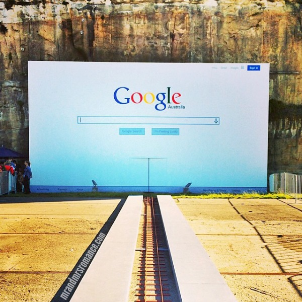Mr & Mrs Romance - Insta Diary - 11 Google ghost train at Biennale