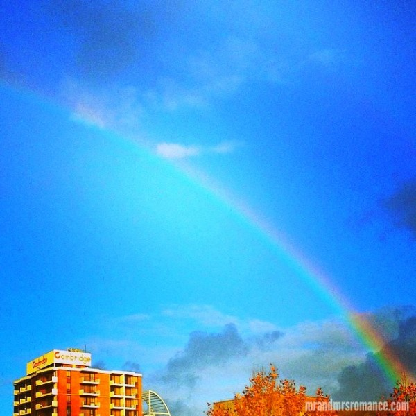 Mr & Mrs Romance - Insta Diary - 9 Rainbow over Surry Hills