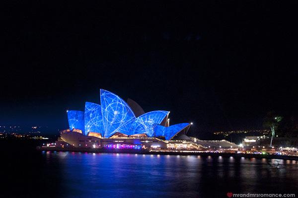 Mr and Mrs Romance - Vivid Sydney 2014 Blue Opera House