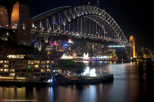 Mr and Mrs Romance - Vivid Sydney 2014 Harbour Bridge