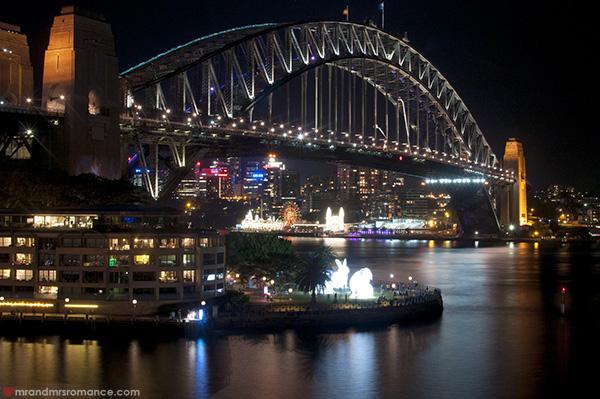 Mr and Mrs Romance - Vivid Sydney 2014 Harbour Bridge