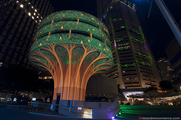 Mr and Mrs Romance - Vivid Sydney 2014 MLC Centre - uban tree project