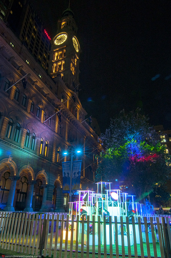 Mr and Mrs Romance - Vivid Sydney 2014 Martin Place