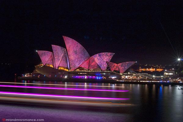 Mr and Mrs Romance - Vivid Sydney 2014 Opera House and ferry