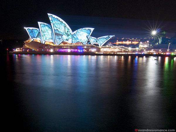 Mr and Mrs Romance - Vivid Sydney 2014 Opera House