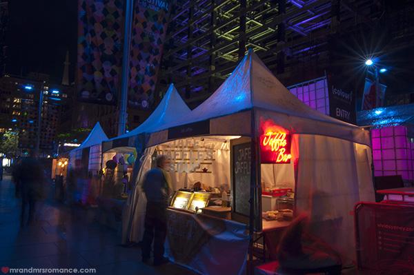 Mr and Mrs Romance - Vivid Sydney 2014 food stalls