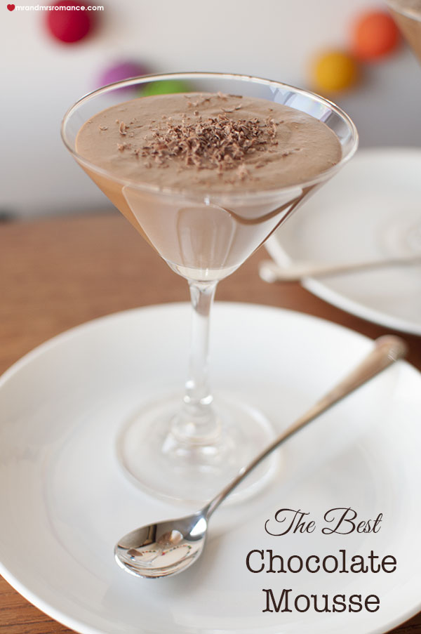 Mr and Mrs Romance - the best Chocolate mousse recipe
