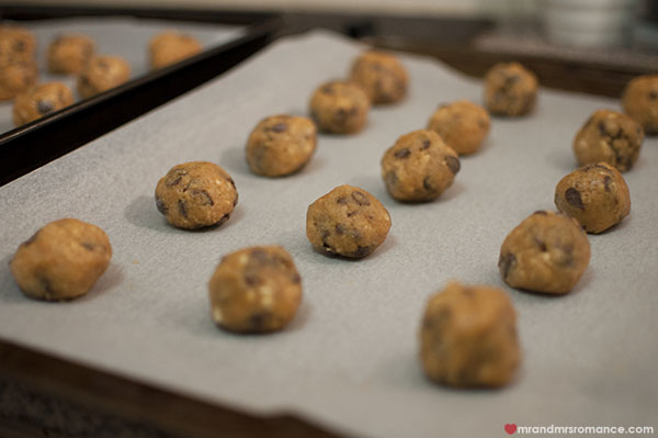 Mr and Mrs Romance - Peanut butter choc chip cookie recipe how to