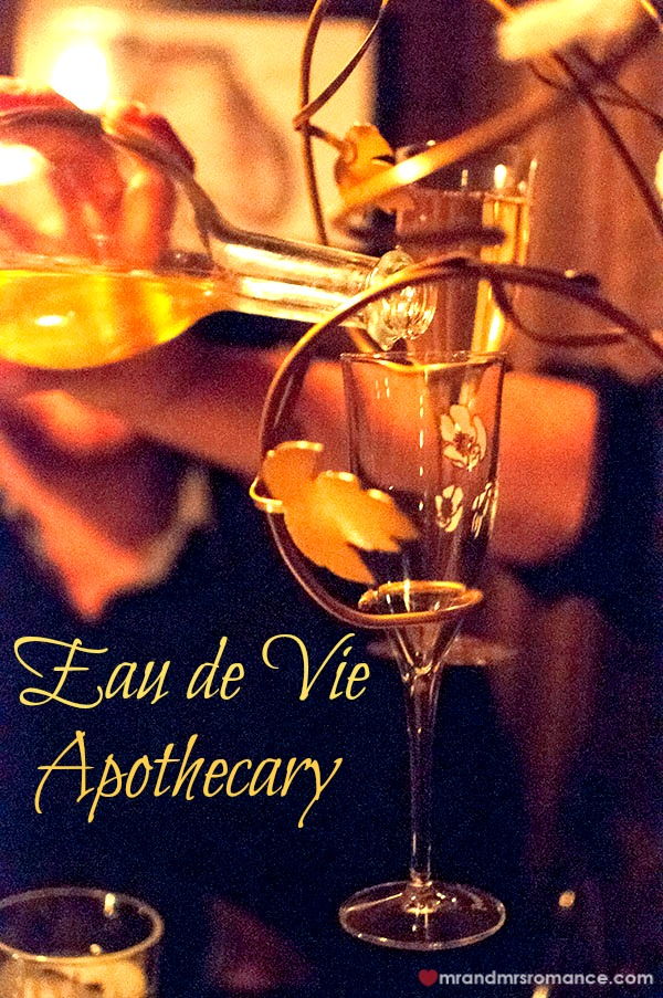 Mr & Mrs Romance - Friday Drinks - 1 Eau de Vie Apothecary Title