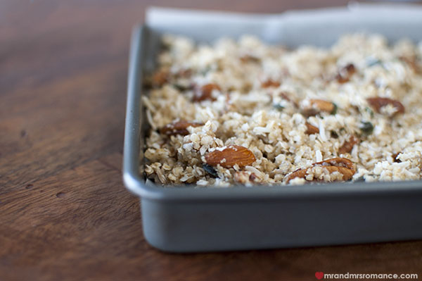 Mr and Mrs Romance - how to make gluten free granola