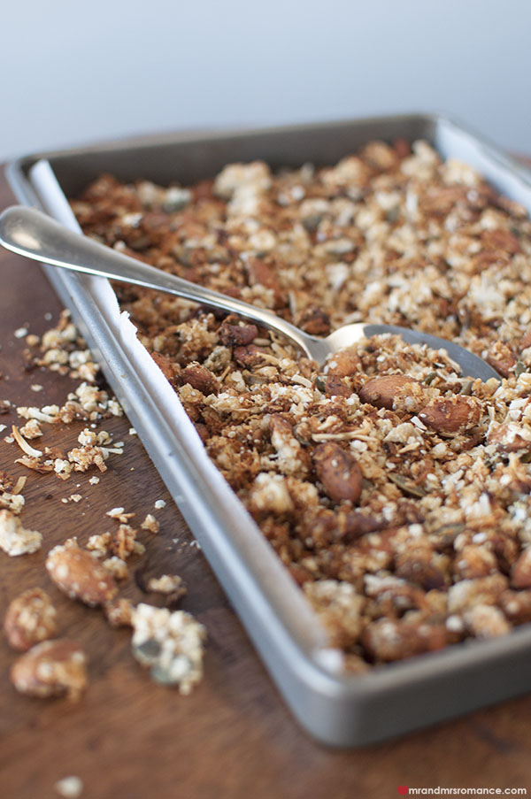 Mr and Mrs Romance - making easy gluten free granola