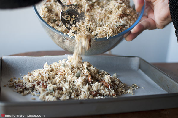 Mr and Mrs Romance - making gluten free granola