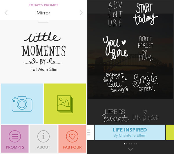 7 apps we use for blogging - Little Moments App by Fat Mum Slim
