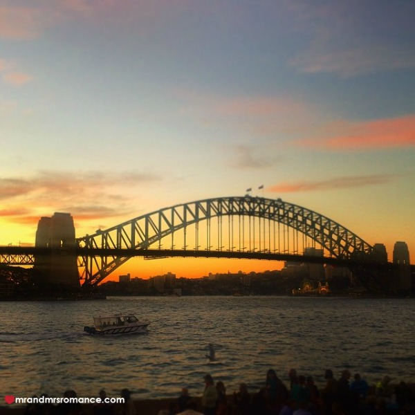 Mr & Mrs Romance - Insta Diary - 9 Harbour Bridge sunset