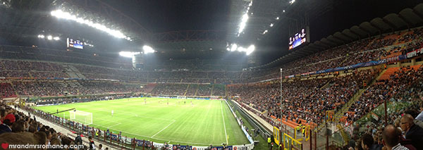 Mr and Mrs Romance - Best things to do in Milan Italy - football at San Siro