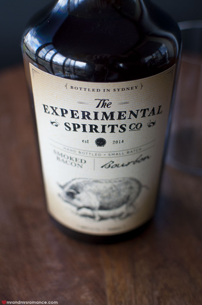 Mr and Mrs Romance - The Experimental Spirits Co Smoked Bacon Bourbon