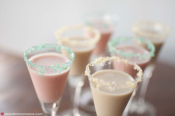 Mr and Mrs Romance - how to make two popping candy cocktails