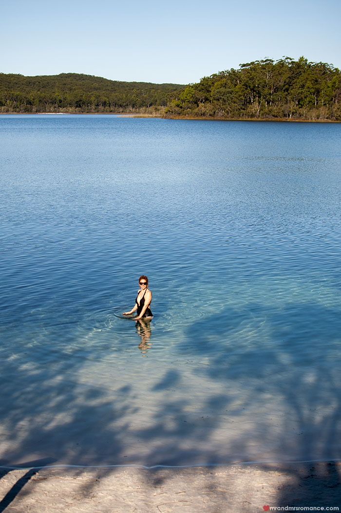 Mr and Mrs Romance - What to do on Fraser Island - 4x4 tours Lake McKenzie