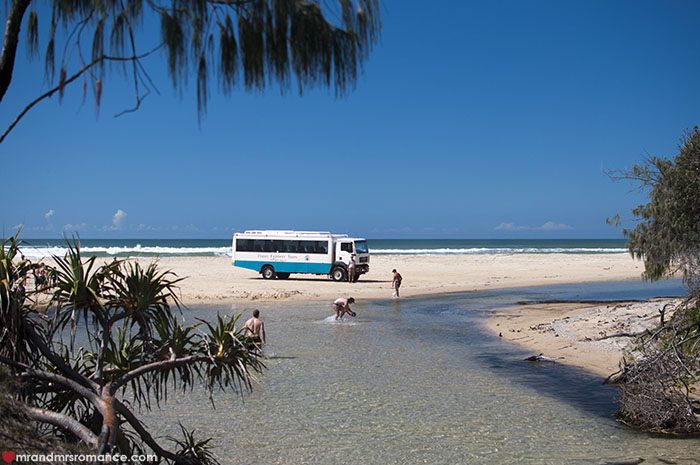 Mr and Mrs Romance - What to do on Fraser Island - 4x4 tours