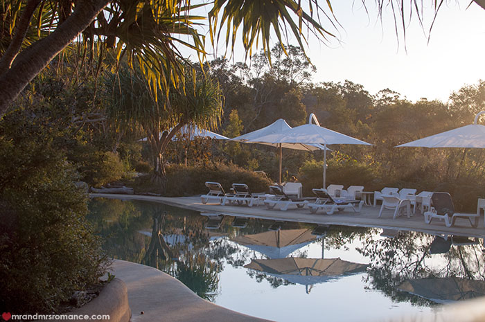 Mr and Mrs Romance - Where to stay on Fraser Island - Kingfisher Bay Resort pool