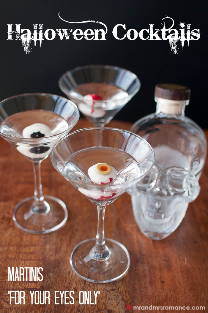 Halloween Cocktails For Your Eyes Only Martini Series