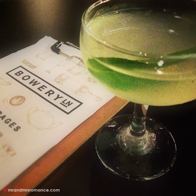 Mr & Mrs Romance - Insta Diary - 3 cocktail at Bowery Lane