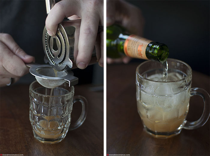 Mr and Mrs Romance - dark and stormy cocktail recipe 12