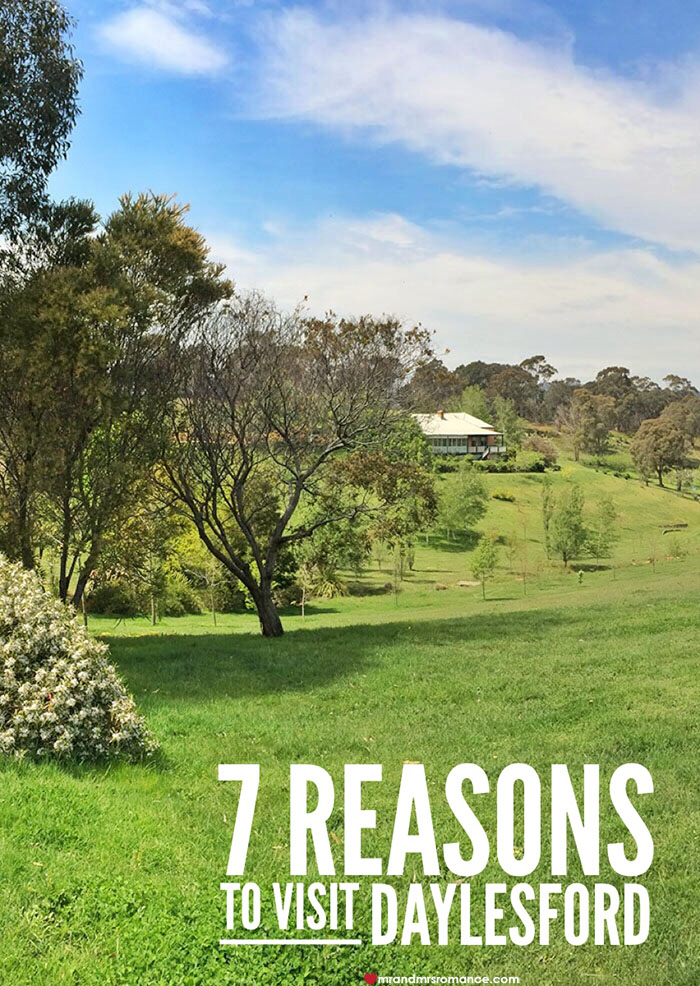 Mr and Mrs Romance - 7 reasons to visit Daylesford Victoria