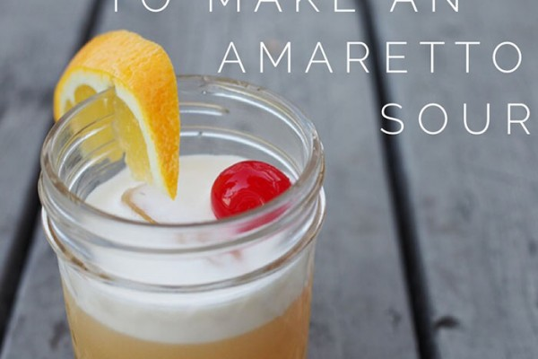 Mr and Mrs Romance - Cocktail recipe - How to make an amaretto sour