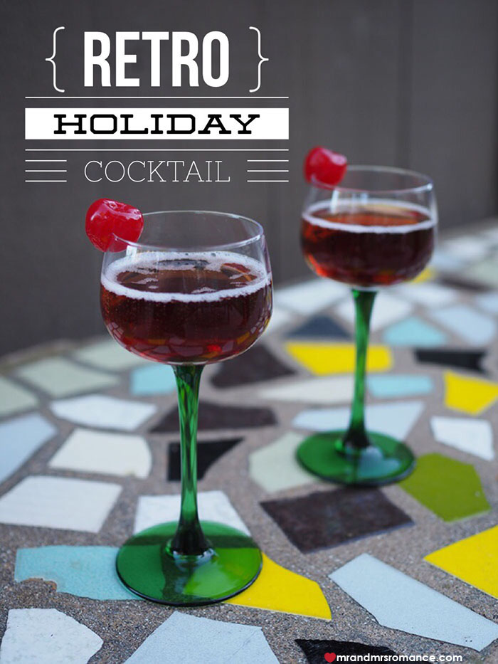 Easy holiday cocktails retro kir royale mr and mrs Simple holiday cocktails