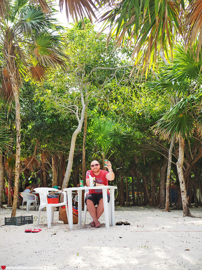 Barefoot dining Mexican style - Chamico's, Soliman Bay, Tulum, Mexico