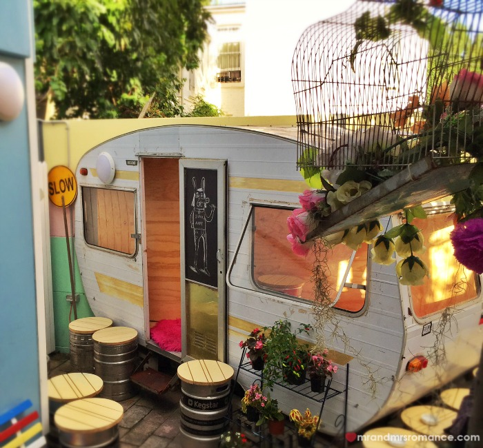 Mr & Mrs Romance - Friday Drinks - Bearded Tit caravan