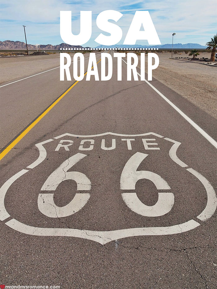 Mr and Mrs Romance - USA roadtrip - driving route 66