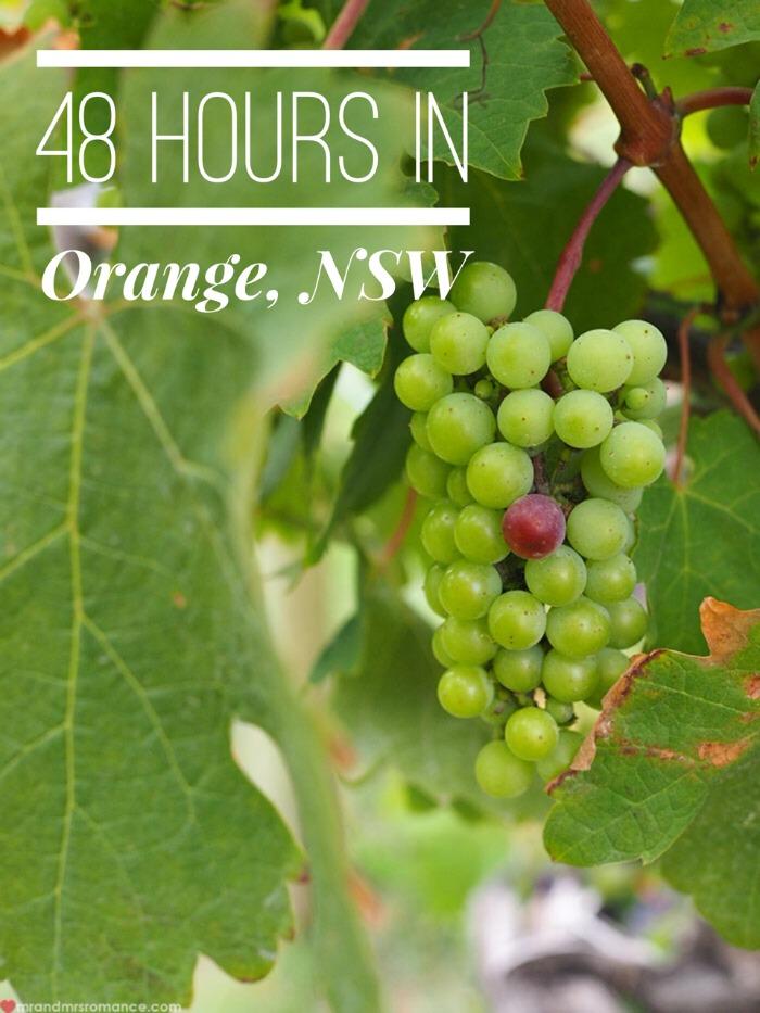 Mr & Mrs Romance - 48 hours in Orange - title