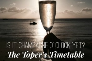 Is it Cocktail O' Clock yet? The Toper's Timetable
