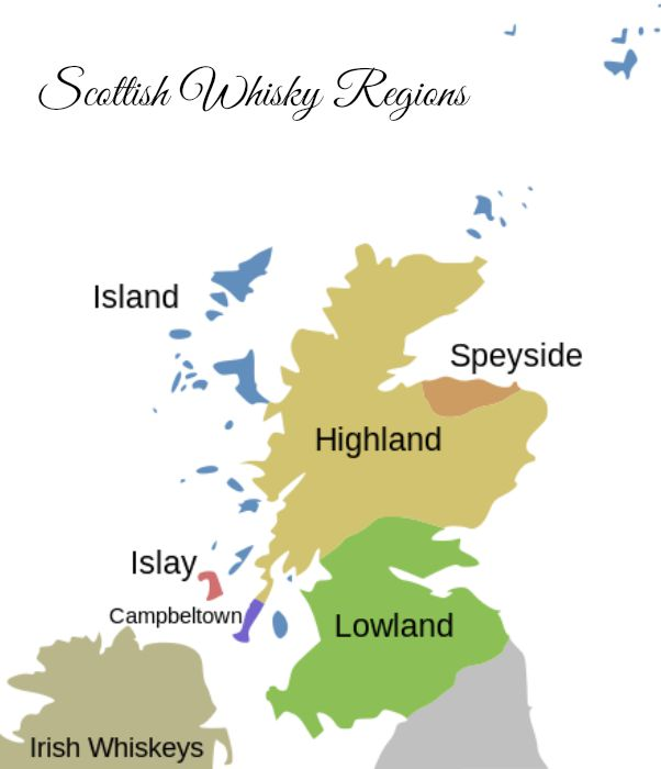 Scotch regions - via Wikipedia