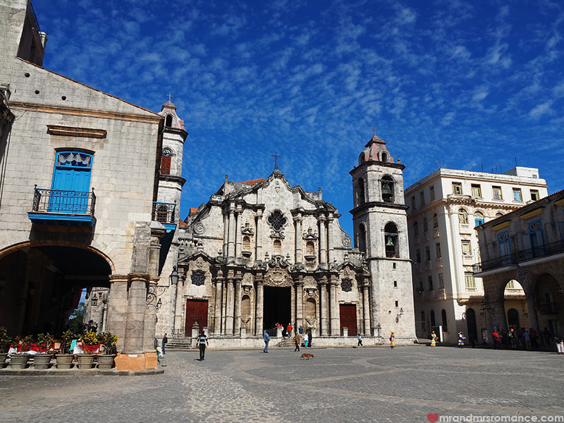 Mr & Mrs Romance - where to go in Cuba - Havana cathedral