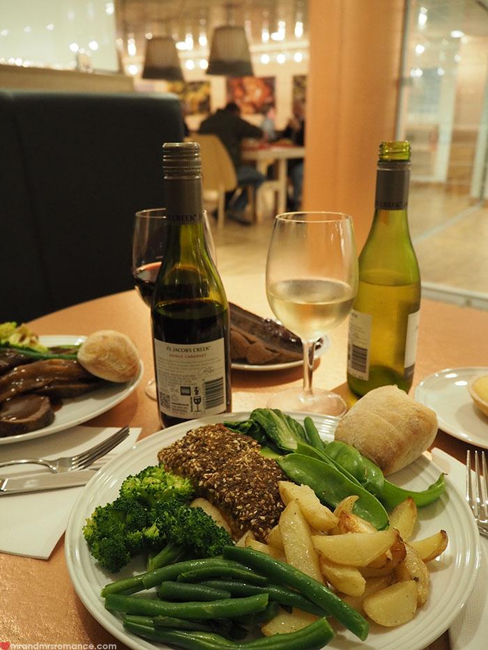 Mr & Mrs Romance - Spirit of Tasmania - dinner