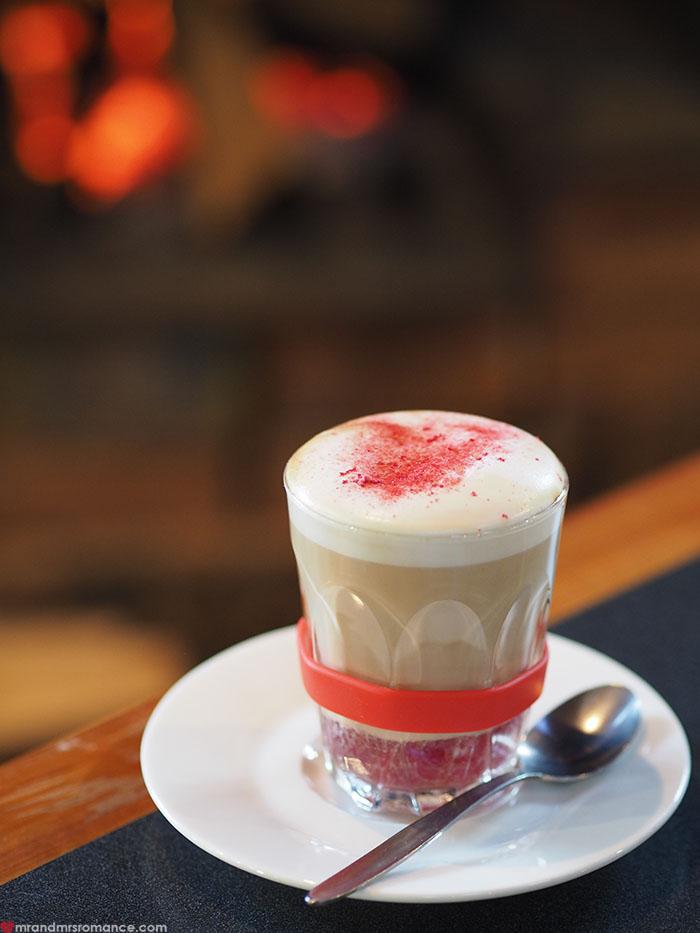 Mr & Mrs Romance - Spirit of Tasmania - raspberry latte