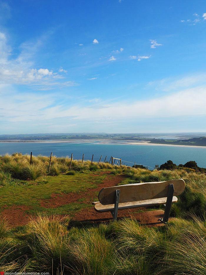Mr & Mrs Romance - Spirit of Tasmania - atop the Nut