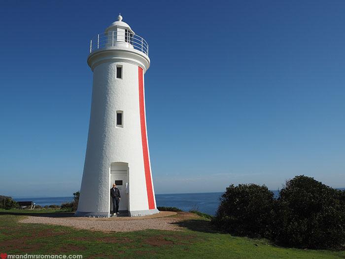 Mr & Mrs Romance - Spirit of Tasmania - lighthouse