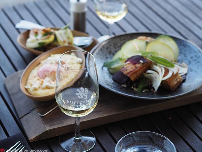Mr & Mrs Romance - Spirit of Tasmania - lunch Josef Chromy