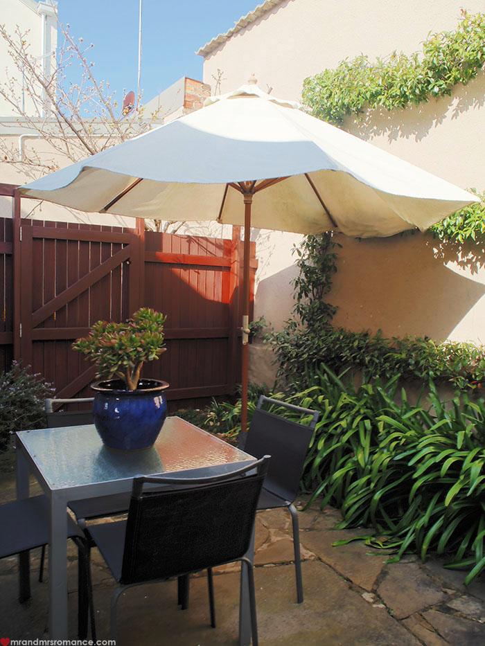 Mr & Mrs Romance - Spirit of Tasmania - TwoFourTwo courtyard