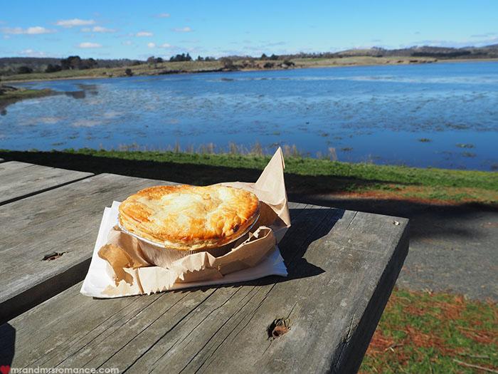 Mr & Mrs Romance - Spirit of Tasmania - pie time