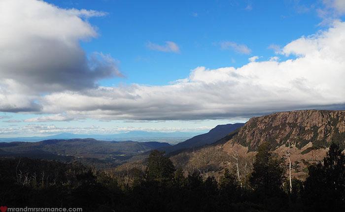 Mr & Mrs Romance - Spirit of Tasmania - views over the lakes