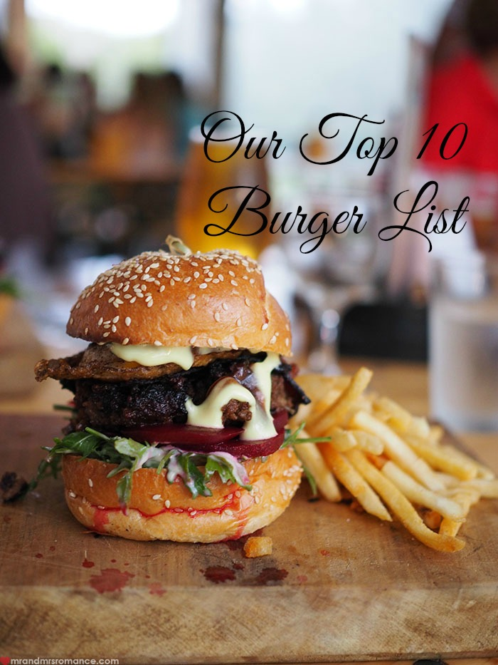 Mr & Mrs Romance - top 10 burgers
