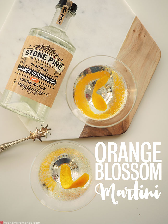 Mr and Mrs Romance - Orange Blossom is the new black martini cocktail recipe